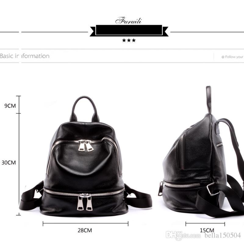 MELHOR QUALIDADE estilo Europeu mochila de luxo Designer de couro Genuíno multi-bolso pacote unisex mochilas bolsas saco de viagem popular
