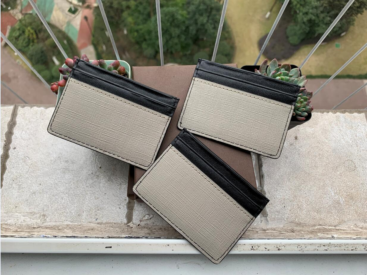 New Mens Fashion Classic Design Casual Credit Card ID Holder Hiqh Quality Real Leather Ultra Slim Wallet Packet Bag For Mans/Womans with box