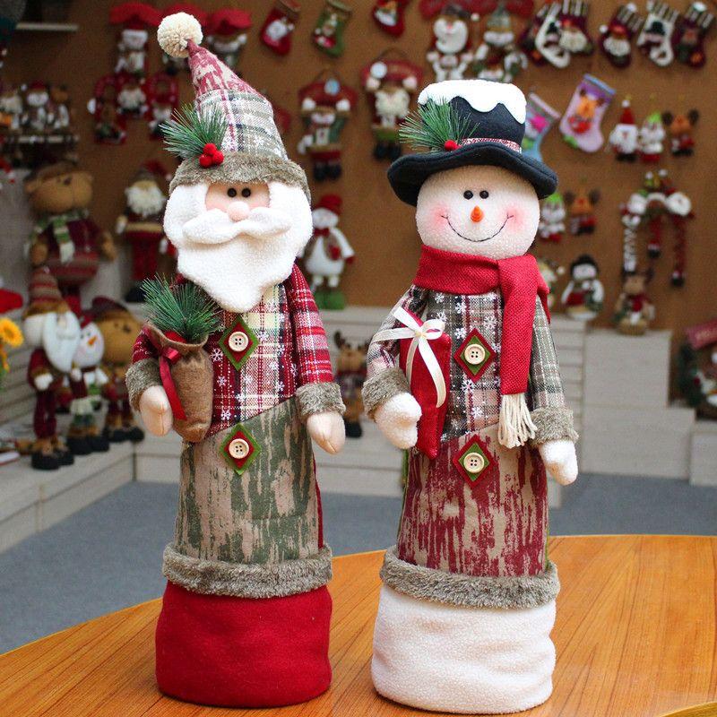 2018 New Year Christmas decorations dolls window Christmas Santa elk Christmas decorations TY2332