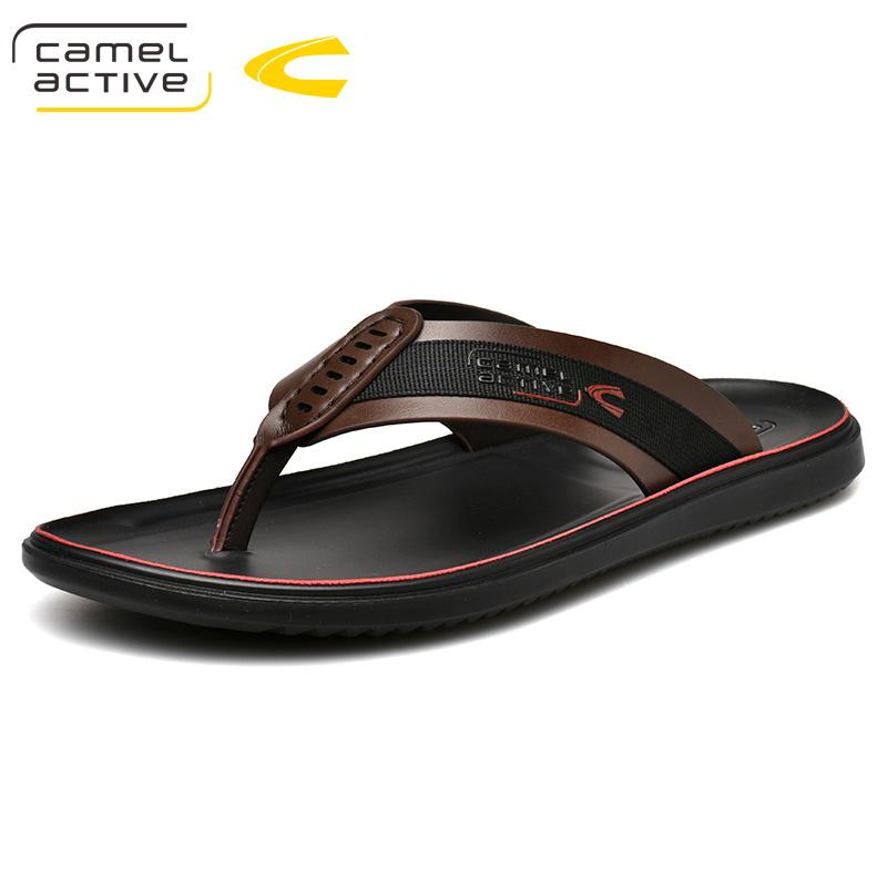 authorized site factory outlet better Camel Active 2019 New Men Slippers PU Leather Men Beach Shoes Brand Casual  Shoes Slippers Sneakers Summer 19351 Womens Cowboy Boots Slippers For Women  ...