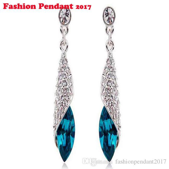 Европа и америка горячая распродажа ну вечеринку геометрические украшения мода кристалл серьги длинные сплав серьги для женщин