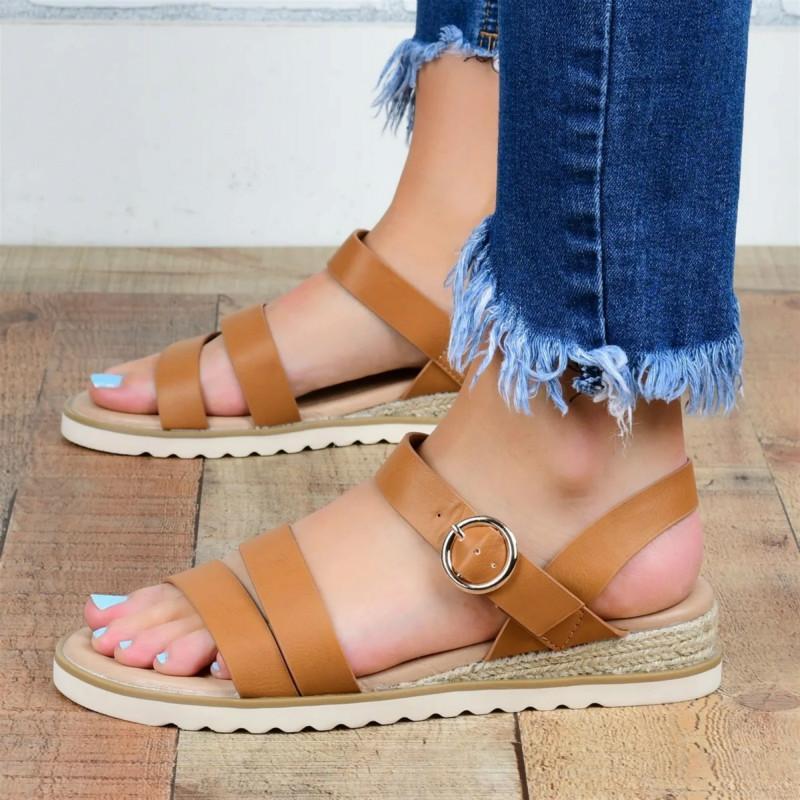 2020 été femme Sandales Lady Mode toes Femmes Sandales Chaussures Plate-forme Wedge Slides Chaussures de plage