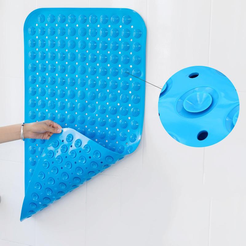 40X80cm Bath Mat Massagem Banho Suprimentos não derrapante Tapete de Segurança Duche Banheira Mats Anti-skid PVC Ventosa Massage Pad