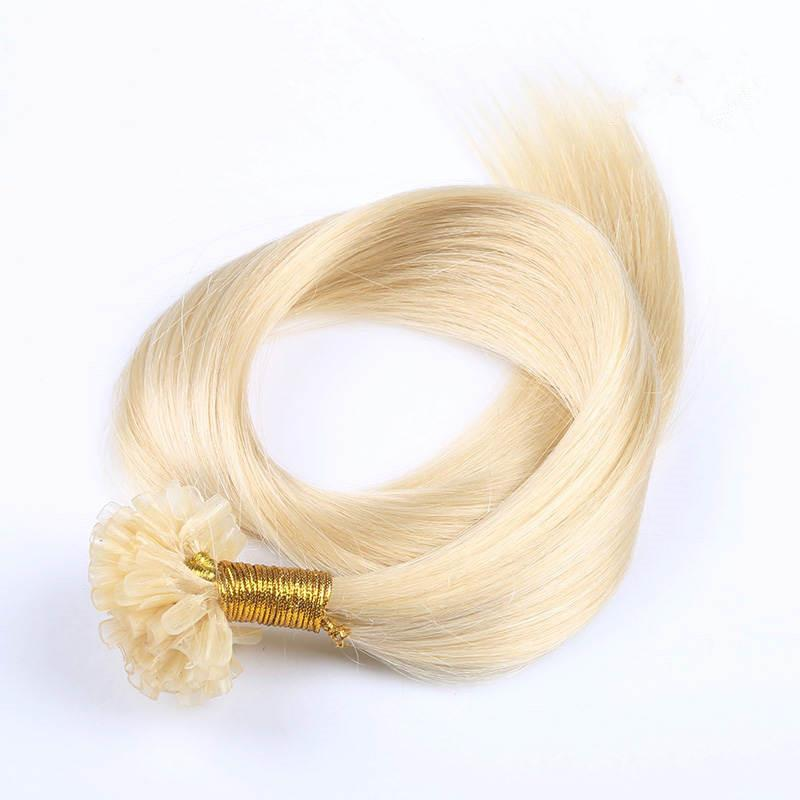 """Silky Straight 300g Prebonded Italian Keratin Nail Tip U tip Fusion Indian Remy Human Hair Extensions 300strands 16""""-24"""" 4 colors available"""