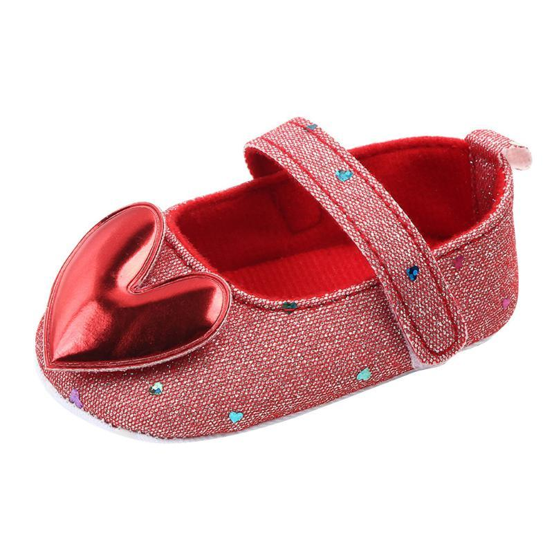 Baby Shoes 2020 Toddler Newborn Baby Crib Shoes Heart-Shaped Princess Soft Sole Prewalker For Girls First Walk