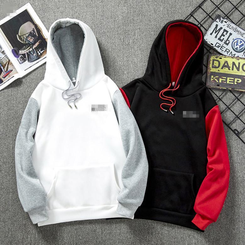 2020 Nova hoodies camisolas Casal Top Solid Color Coats Camisola encapuçado Jacket Moda Hip Hop HFWY015