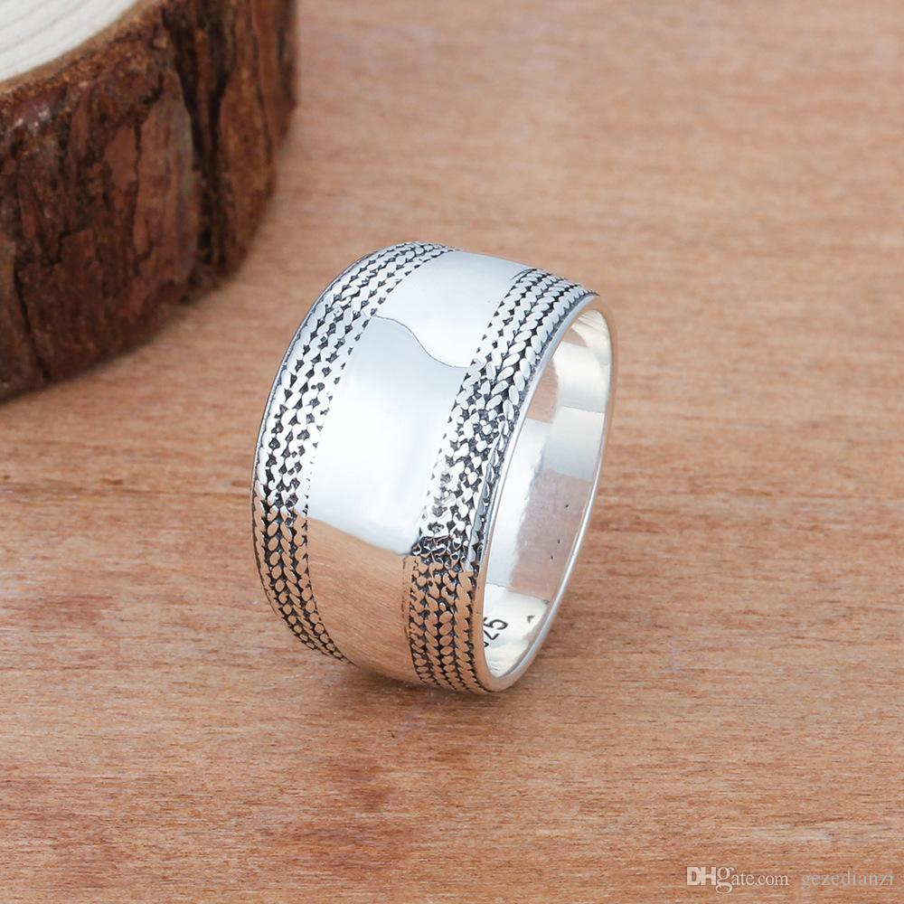 Ring For Women Vintage Silver Ring Celtic Knot Ring Lady Wedding Silver Jewelry US Size 5-12