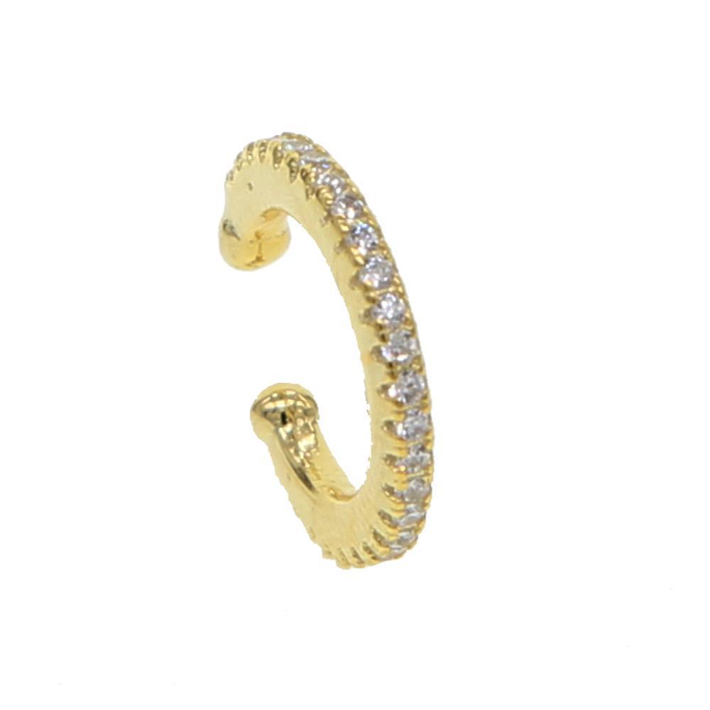 ارتفعت لا مثقوب لامعة الزركون أقراط الأذن الكفة 925 الفضة للمرأة أزياء الزفاف والمجوهرات المكدس الذهب  الأسود تشيكوسلوفاكيا كليب الحبل