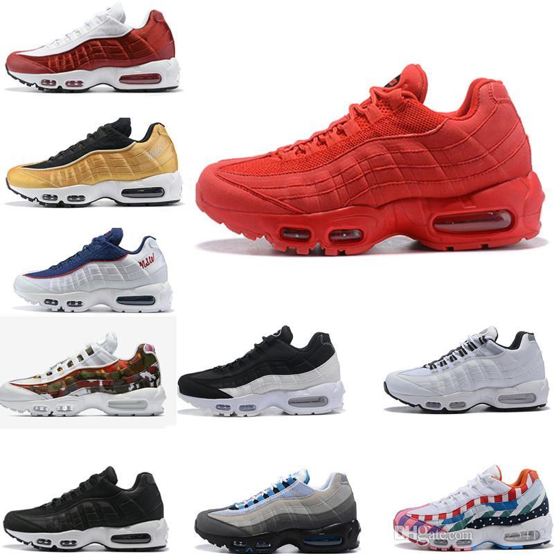 1995 OG SE QS bambini pattini correnti del mens della gioventù Junior Scarpe da corsa ERDL White Party Multi-color cristallo blu Sneakers Trainers