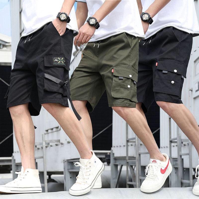 Short Loose Hommes New Summer hommes de grande taille Casual Shorts haute qualité Hommes courtes en coton Outillage Pantalon