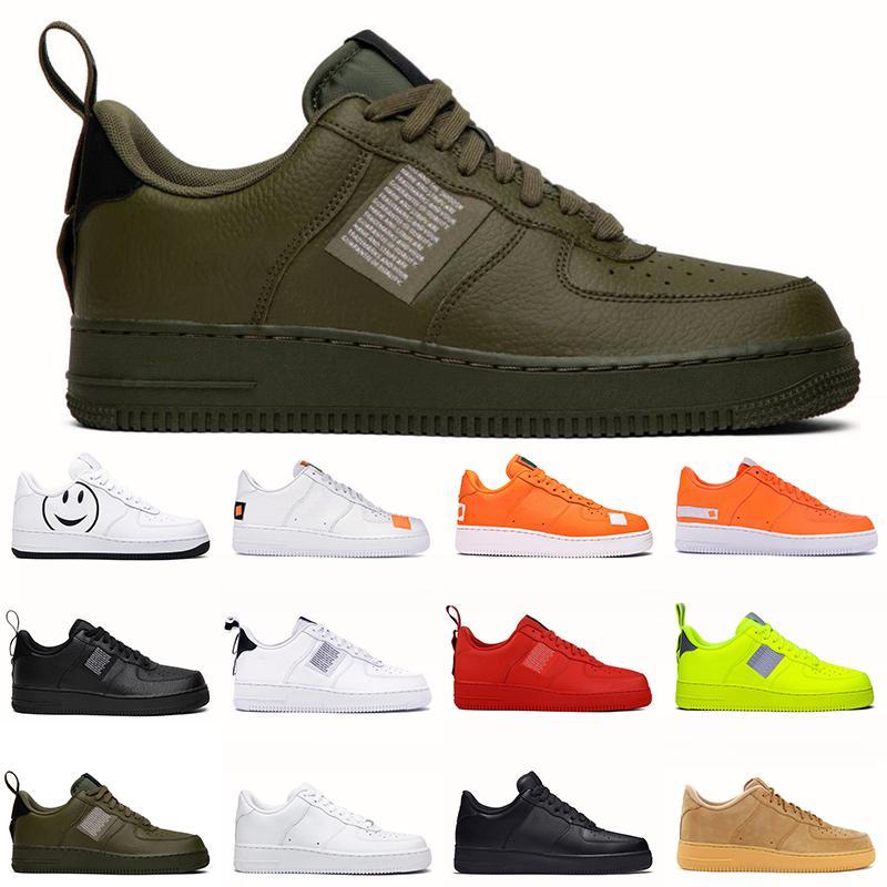 Nike Air Force One Erkekler Kadınlar Erkek Eğitmenler Yüksek Kalite Üçlü Siyah Beyaz Utility Beyaz Siyah Kırmızı Zeytin Erkek Spor Ayakkabı Sneakers Boyut Koşu Ayakkabıları 36-45