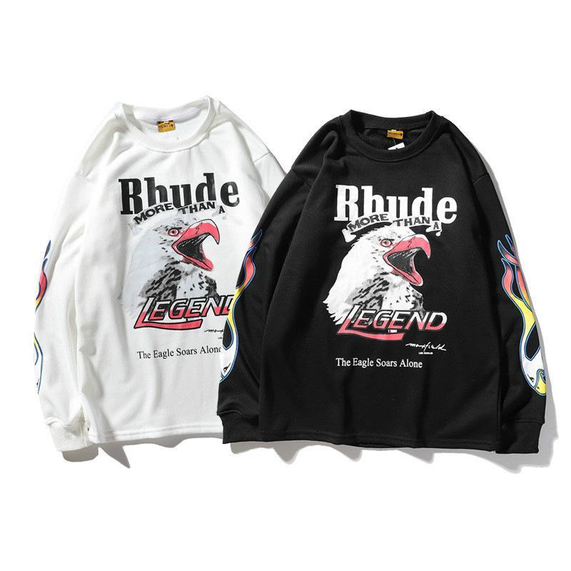 2020 RHUDE дизайнерский мужской и женский свитер с длинными рукавами Европа и Америка tide бренд совместно определяют LA Los Angeles Fire Eagles terry round