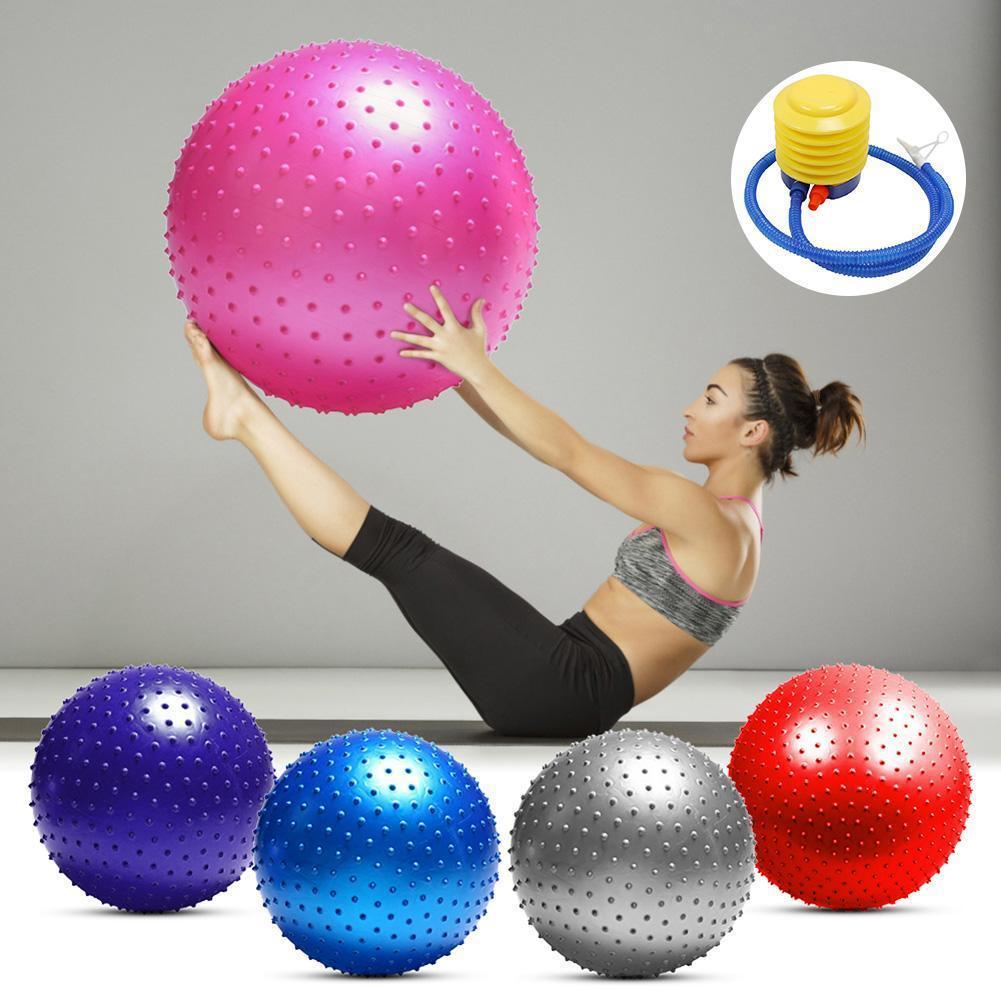 Sport Yoga palle Pilates Fitness Gym Balance Fitball PVC della sfera di massaggio di formazione esercizio palla allenamento 75cm padre-figlio giocattolo sfera OLiEc