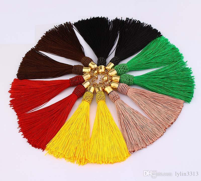 Women Long Tassel Earrings Simple Design Colorful Fringed Earrings Many Colors Boho Jewelry Stud Earring