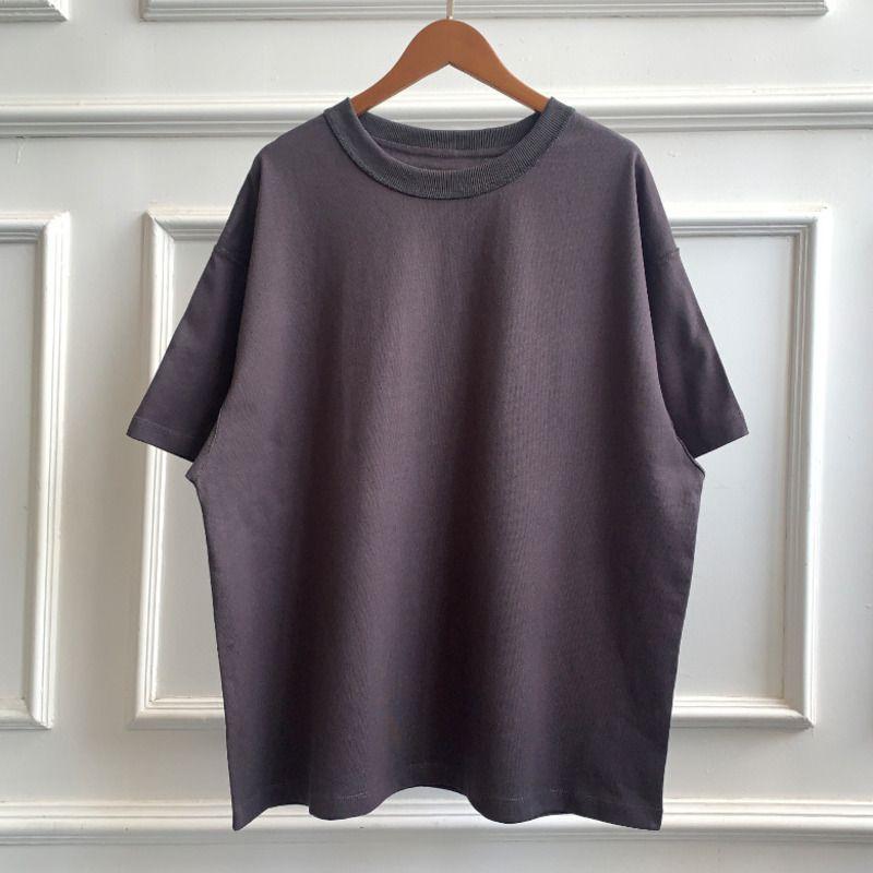 FEEAR OFF GOOD de manga corta camiseta de lavado Mujeres Hombres suelta color sólido Negro T suéter de algodón camisetas cómodas HFXHTX295
