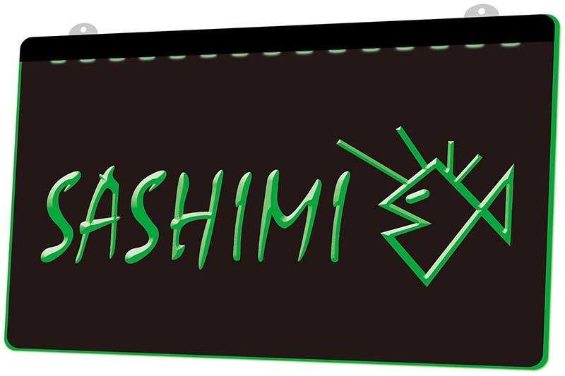 LS1632 0 Sashimi Sushi Bar Japan Food RGB Multiple Color Fernbedienung 3D Gravur LED Neonlicht-Zeichen-Shop Bar Pub-Club