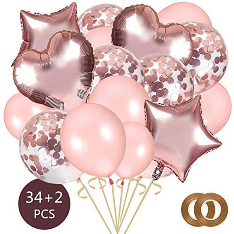 36PCS Love foil balloon suit balloon Clear Ballons Party Wedding Party Decoration Kid Children Birthday Party Supplies Air Ballon Toys