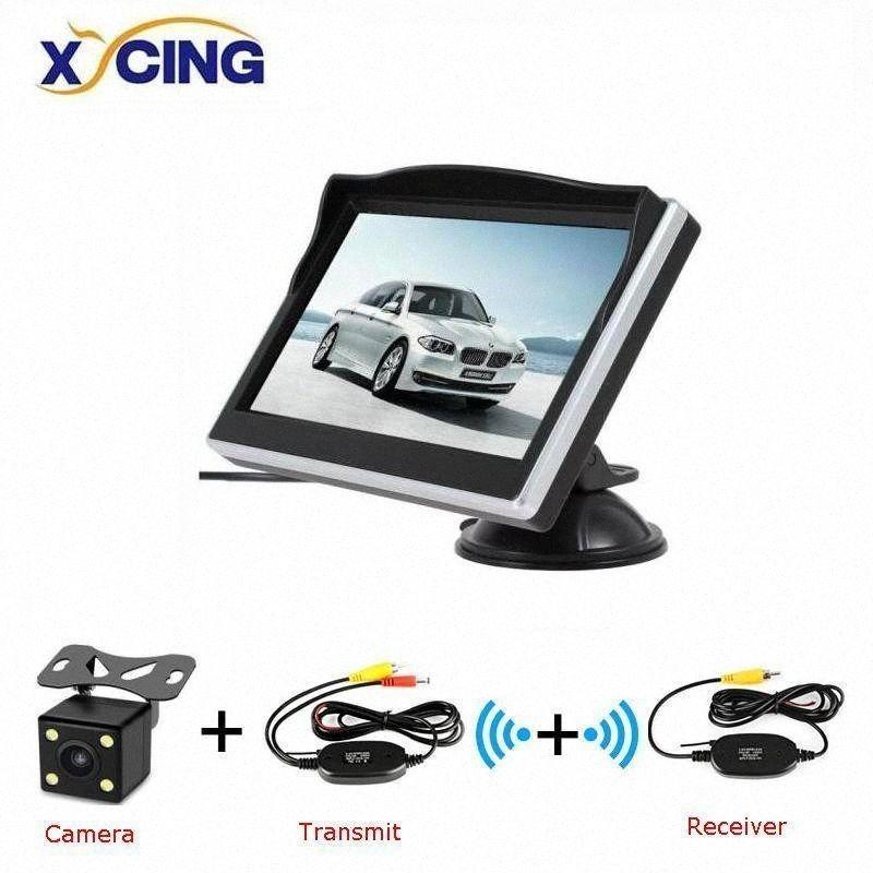 XYCING 5-дюймовый TFT LCD 800 * 480 HD экран монитора автомобиля с резиновым Vacuum Cup кронштейн + Цвет автомобиля Reverse заднего вида камеры 0TIu #