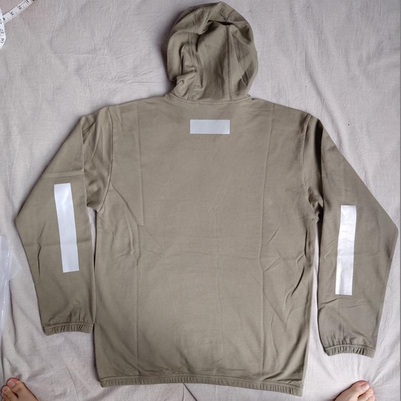 18FW 60743 светоотражающие печати с капюшоном толстовка топы 3 м светоотражающие Мужчины Женщины мода повседневная T0NEY HFLSWY329