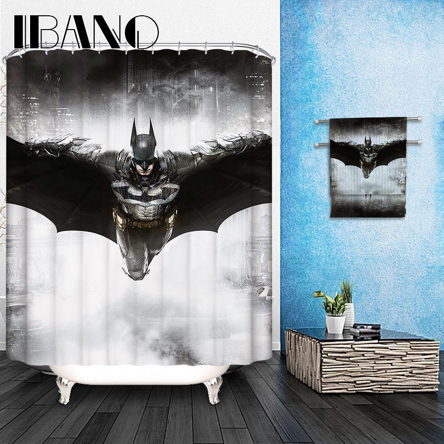 Marvel Poliban Motif sur mesure Rideau de douche imperméable Salle de bain en tissu 165x180cm Rideau pour salle de bain
