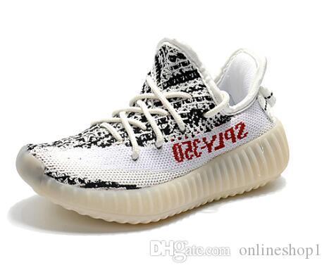 Jungen Mädchen Baby Kinder Schuhe 35O Kanye West Beluga Zebra Bred Cremeweiß Schwarz Laufschuhe Mit Box