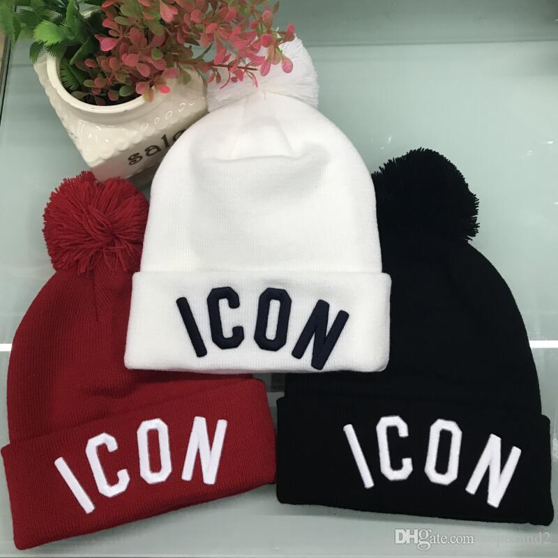 En kaliteli ICON kış kap KANADA marka BEANIE erkekler örme şapka klasik spor kafatası kadınları açık havada rahat GOOSE Beanies kapakları