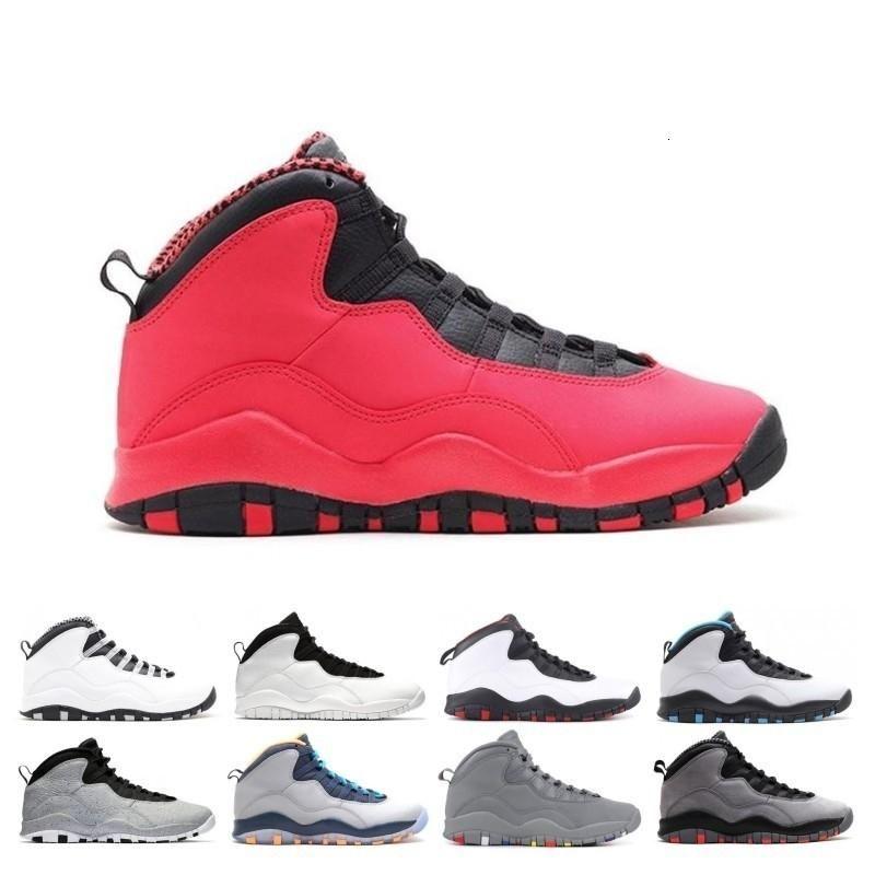 Con Box 2019 Oscuro Gris humo Desierto Camo 10s zapatos de baloncesto del Mens Woodland Orland Cemento 10 Westbrook Im posterior de acero de los hombres zapatillas deportivas
