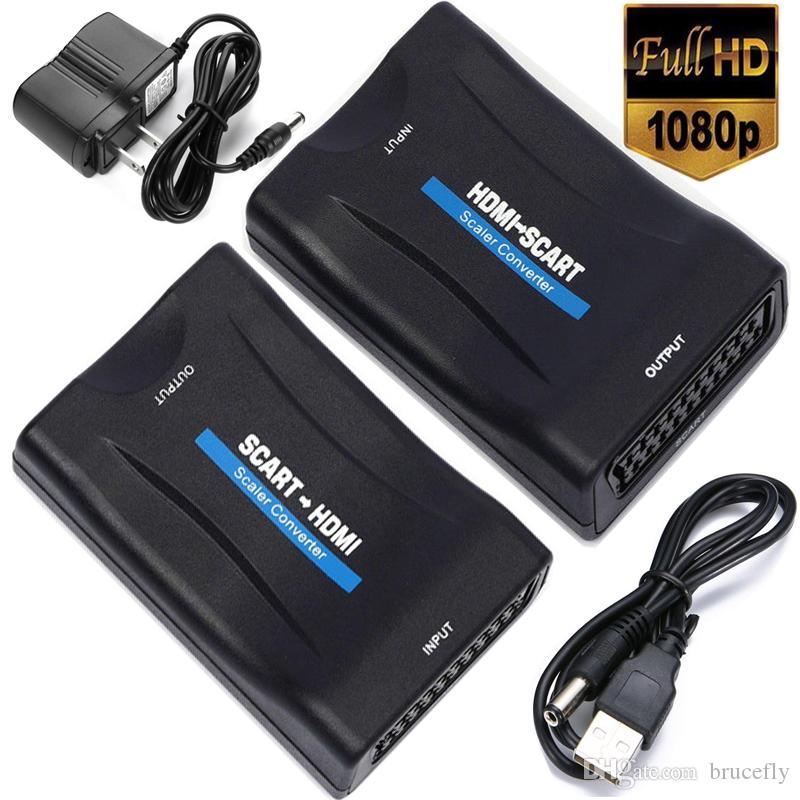 HDMI إلى سكارت / سكارت إلى HDMI محول الصوت والفيديو سكارت إلى محول HDMI لHD TV سكاي بوكس STB DVD