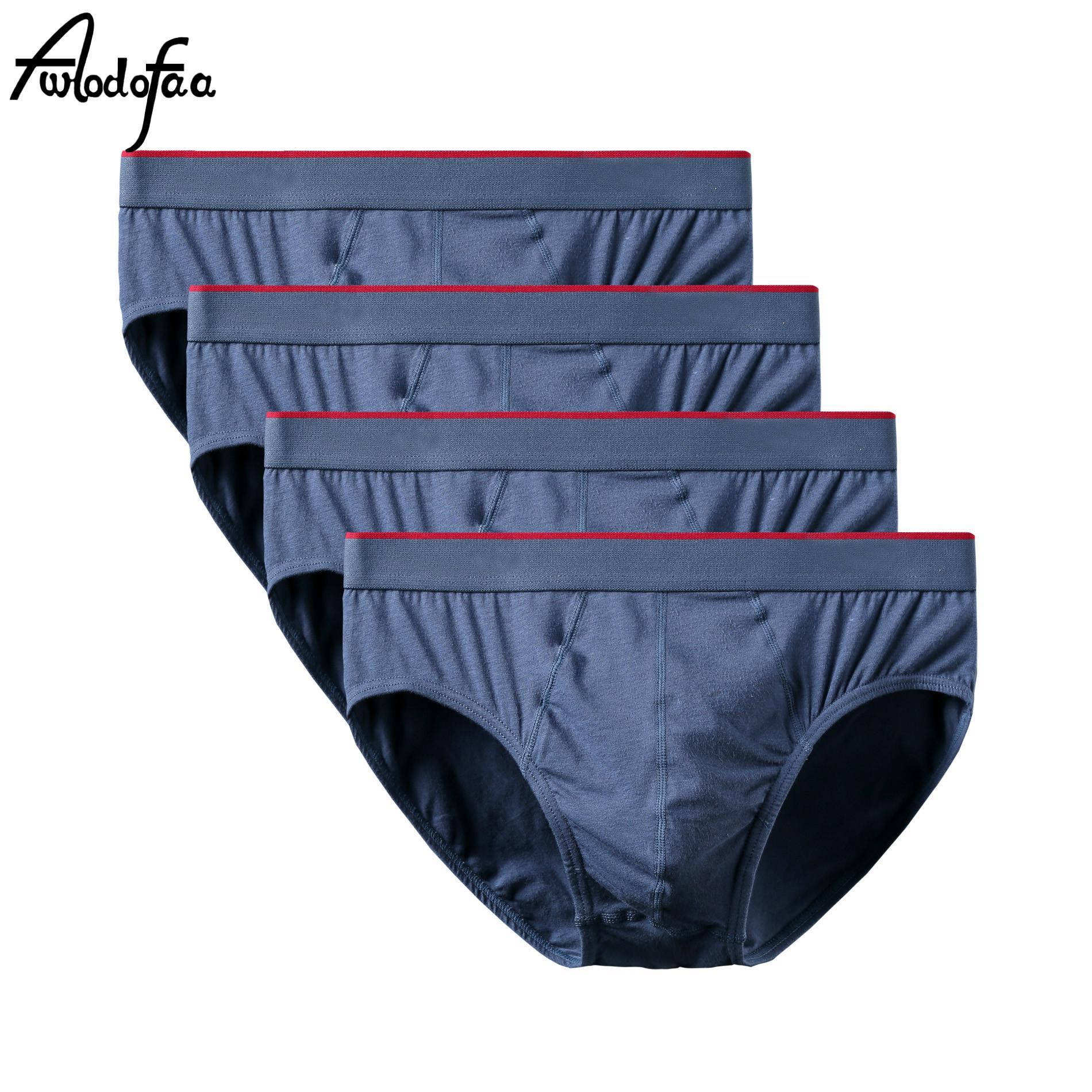 4pcs / lot Nouveau Mr Culotte marque de mode sexy coton Slip Pouch Short Hommes Homme Sous-vêtements homme Caleçon respirant haute qualité T200511