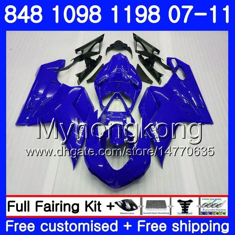 Corpo per DUCATI 848R Stock blue hot 1098R 1198R 848 1098 1198 07 08 09 10 11 324HM.17 1098S 848S S R 1198S 2007 2008 2009 2010 2011 Carena
