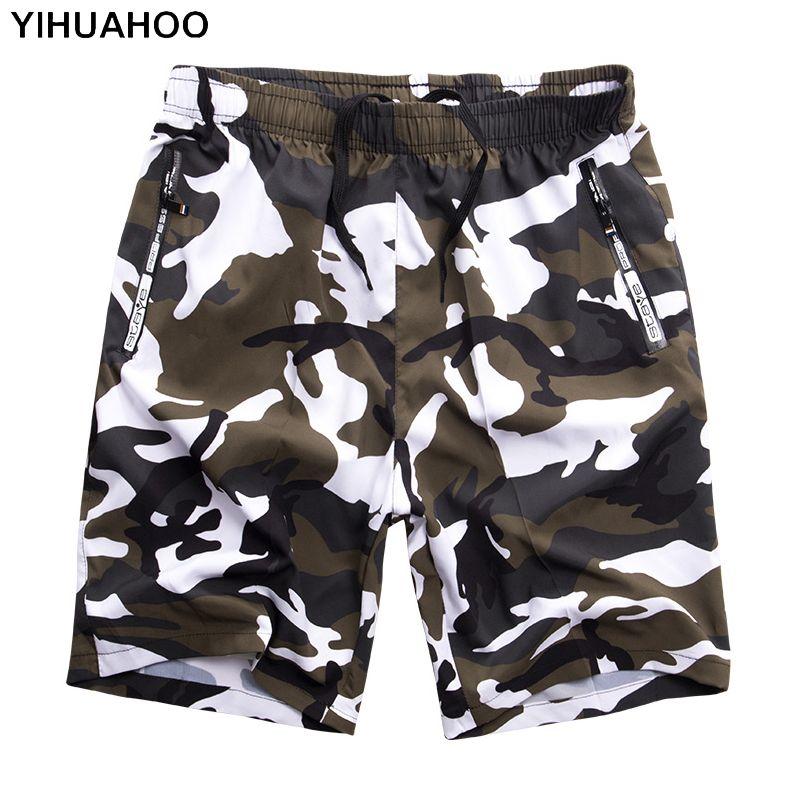 YIHUAHOO Casual Verão Shorts Homens Plus Size 6XL 7XL 8XL Bermuda Board Camouflage Praia Shorts Impresso Punk homens Short Pants Y200623