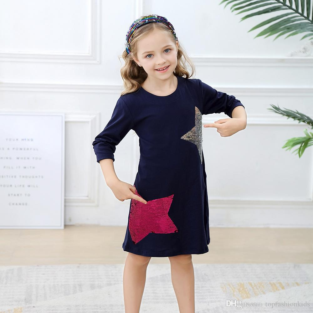 Hot Sale Girls 100% Cotton Long sleeve Casual Princess Dresses Applique Cartoon Baby Girl Dress Lovely Baby Clothing