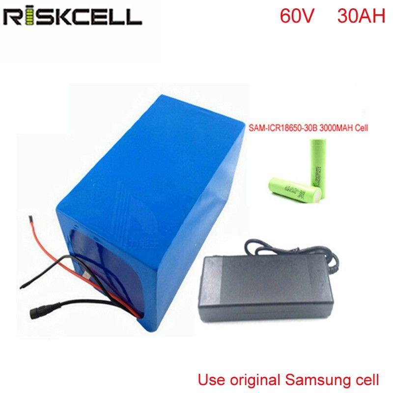 Batteria ricaricabile fai-da-te 60v 30ah per bici elettrica Batteria da 60v con caricabatterie 50A BMS Per cella Samsung