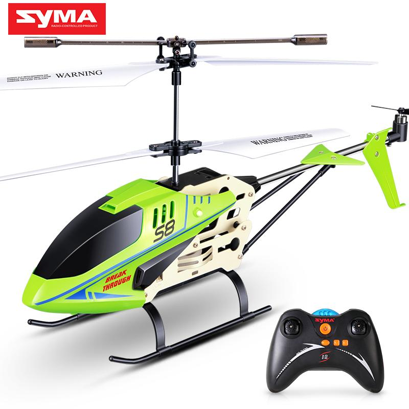 SYMA Official S8 3CH RC Helicopter with 6Axis Alloy Body Remote Control Mini Indoor Drone LED Flashing Aluminum Aircraft