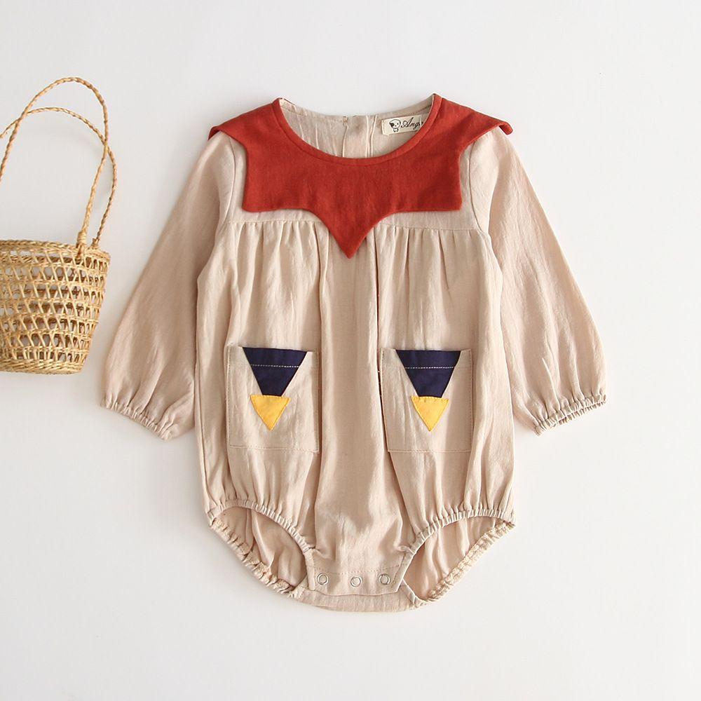 2020 Summer HOT de haute qualité bébé garçon Vêtements Cartoon citrouille manches longues printemps barboteuse Romper enfant en bas âge coréen Outfit