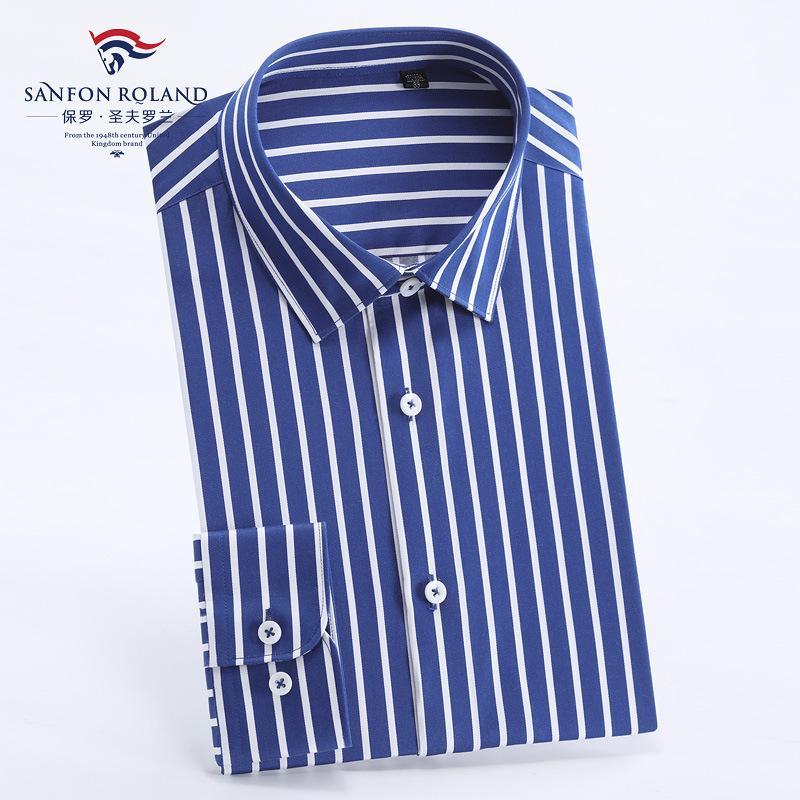 ملابس أعلى نوعية الرجال الدرجة العليا القطن الخالص موانئ دبي جاهزة للارتداء قميص رجالي كم طويل تريم الأعمال الصلبة اللون اللباس الرسمي قمصان DP227