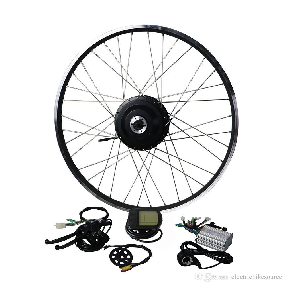EUNORAU 36V500W rear wheel cassette hub motor 20'' 26'' 28'' Electric bicycle motor Conversion Kit