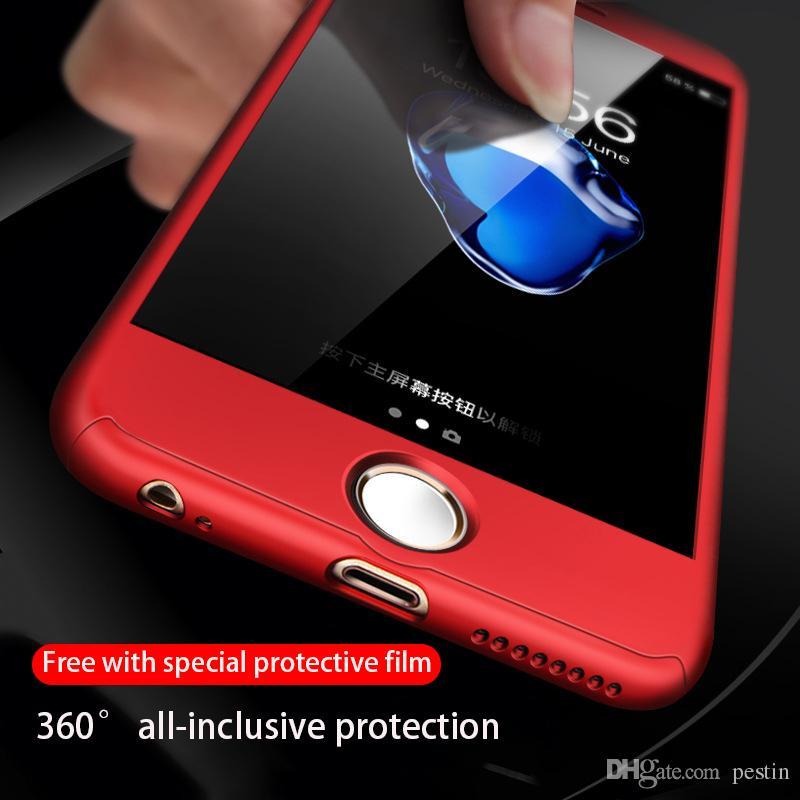 아이폰 11promax 11pro (11) xsmax XR X 8P 8 7P 7 6 6sp 360 ° 모든 것을 포함하는 안티 - 드롭 충돌 방지 하드 케이스 보내기 강화 필름
