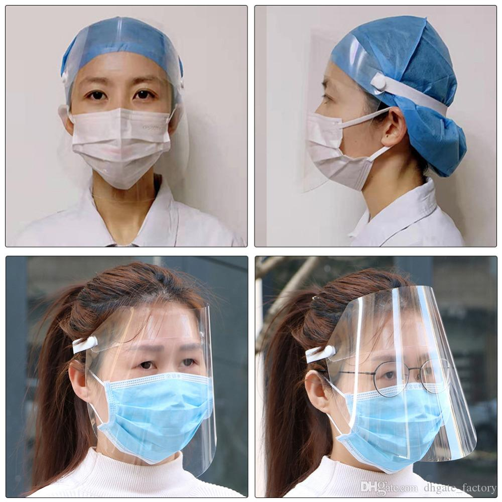 Mascarilla facial completa máscara facial protectora contra las gotitas respiratorias Máscaras Transparente adultas cortavientos Protección de Hogares En Stock