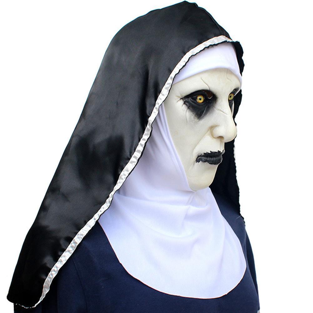 Nun Maschera Spaventato Celebrazioni femminile parrucca volto a tema Halloween Cosplay del partito Bar Performances Notte Spettacoli Carnevale Personal