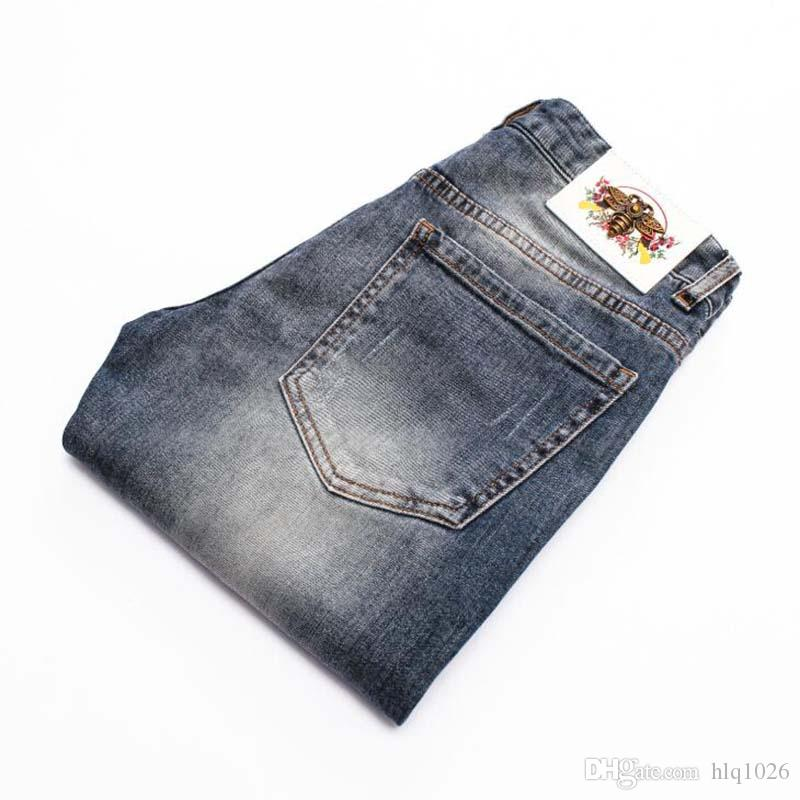 19ss Men's Jeans Summer Style Thin Business Casual Slim Straight Jeans Classic Young Man Denim Pants
