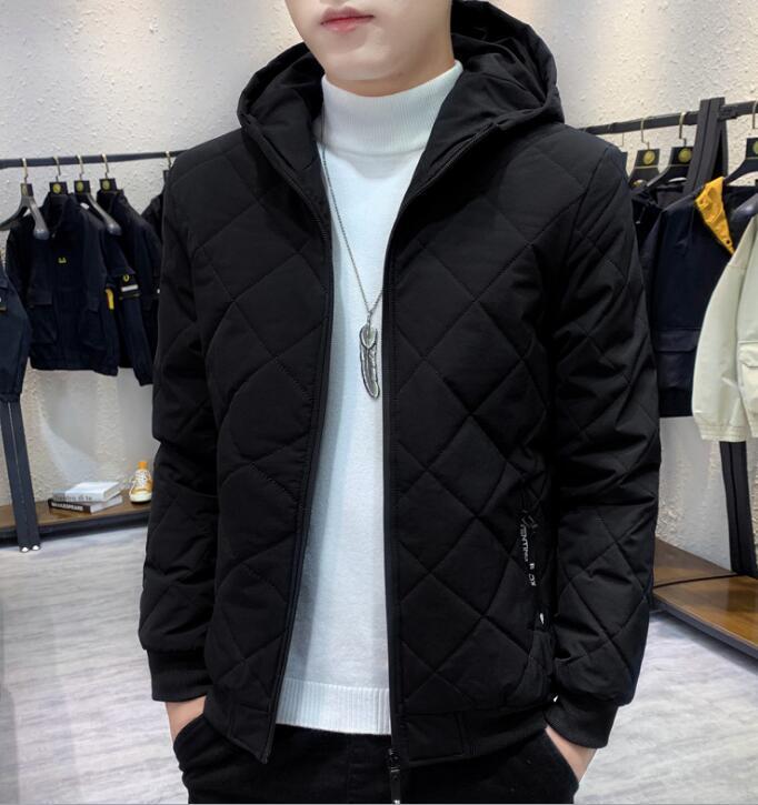 moda 2020 trapuntate velluto Giacche con cappuccio da uomo nuovo inverno degli uomini più giacca di velluto Giacca imbottita giacca tuta sportiva del cappotto