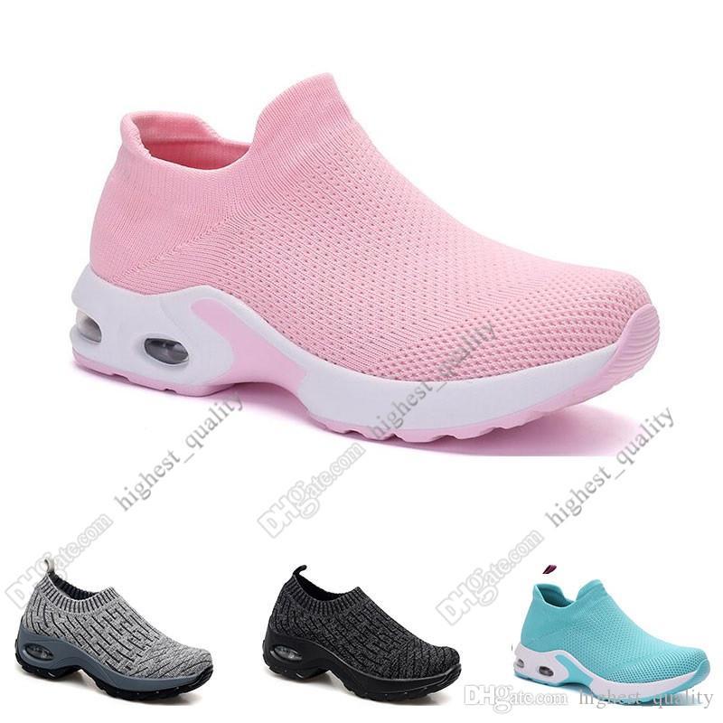 2020 New Arrivel Running Tênis para mulheres preto branco rosa bule cinza Oreo esportes sneakers treinadores 35-42 tamanho grande trinta e quatro