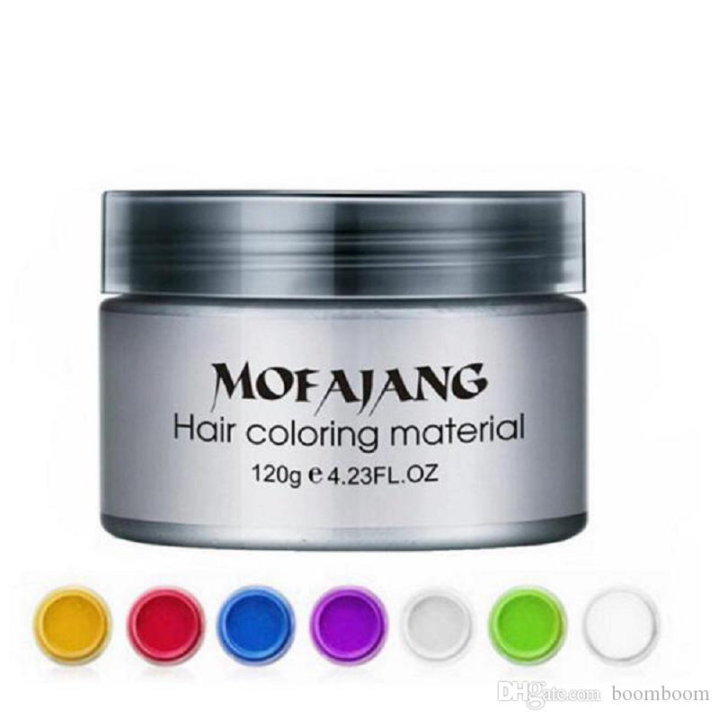 Mofajang شمع الشعر لتصفيف الشعر Mofajang مرهم أسلوب قوي استعادة المرهم الشمع هيكل عظمي كبير مملس 7 ألوان من boomboom
