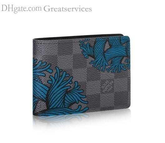 Esbelta Monedero N41679 hombres de la correa de cuero exóticos Bolsas Bolsas Bolsas icónicas Embragues cartera monedero de las carpetas