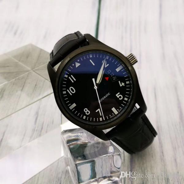 새로운 남성 기계 자동 디자이너 요트 마스터 시계 고전 파일럿 시리즈 군대 대통령 블랙 명품 시계 남자 스포츠 손목 시계