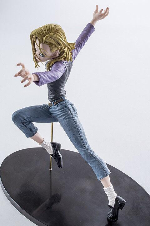 18CM Dragon Ball Z Android 18 Lazuli Action Figure PVC Collection figures toys for christmas gift brinquedos with Retail box Y190529