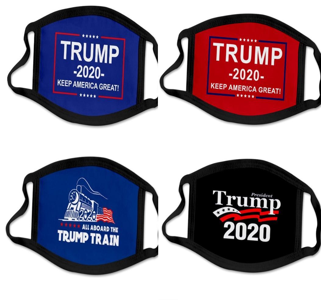33 types Impression 3D Trump 2020 Masque coupe-vent coton Masques bouche des enfants adultes américains Élection États-Unis Mask Noir DHL