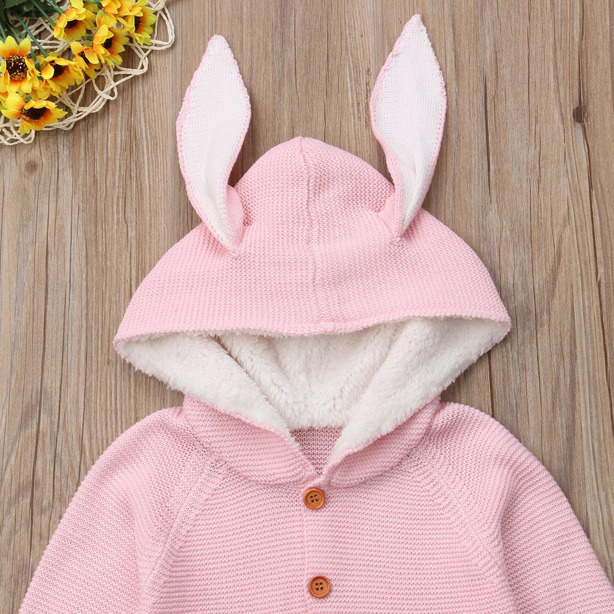Recém-nascido Criança Baby Girl Clothes Boy camisola de malha Cardigans casaco quente Cotton Outono Casacos Roupas de bebê meninas 0-24M