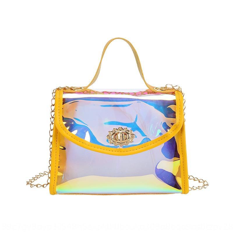 mobili sacchetto del telefono cellulare della donna telefono 2020 nuovo laser coreano stile moda catena spalla gelatina sacchetto trasparente crossbody